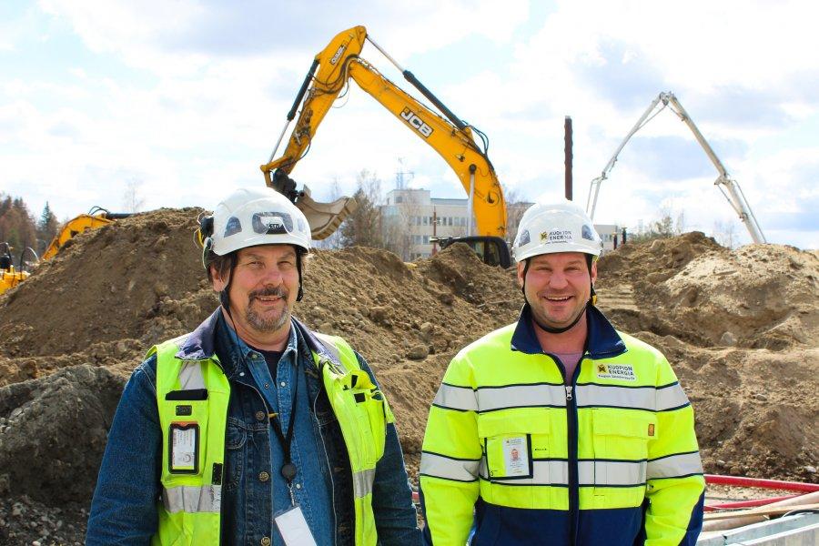 Kuopion Energian rakentamiskohteet kesällä 2021